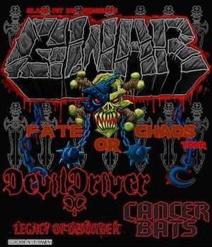 GWAR Fate Or Chaos 2012 Tour with DevilDriver, Cancer Bats