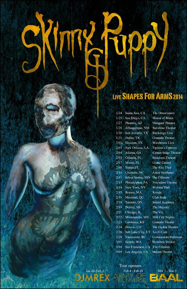 Skinny Puppy – Live Shapes for Arms Tour 2014
